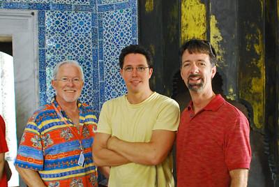 Bill, Brett, and Jerry in Topkapi Sarayi