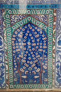 Beautiful Tree of Life Mosaic oustide Circumcision Room of Topkapi Sarayi