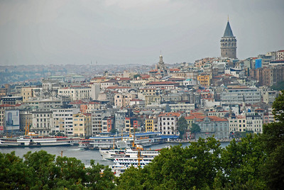 View of Istanbul from Terrace at Topkapi Sarayi