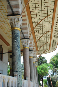 Interesting Columns Supporting on of the Topkapi Sarayi Building
