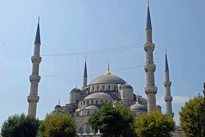 The Blue Mosque with Six Slender Minarets