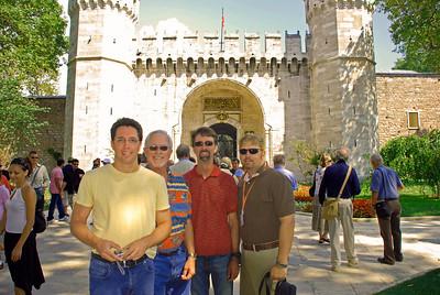 Brett, Bill, Jerry, & Wes at Second Gate of Topkapi Sarayi in Istanbul
