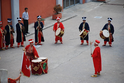 Turkisk band welcomed the Brillance of the Seas to Istanbul
