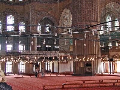 The Blue Mosque - Interior with Large Open Area