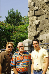 Wes, Bill, and Brett at base of the Column of Constantine