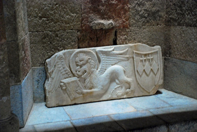 Ancient carving located within the Hospital of the Knights (Rhodes)