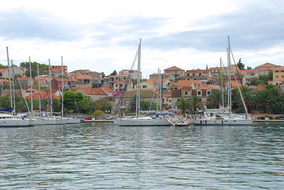 Sail boats in Trogir, Croatia