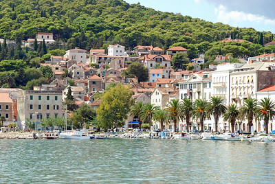 Homes near river in Trogir