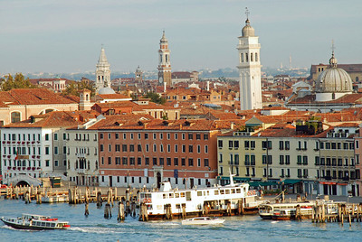 View from Cruise Ship passing central Venice
