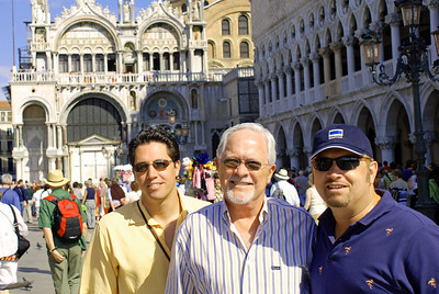 Brett, Bill, and Wes with Doge's Palace and Librreria Sansoviniana in background