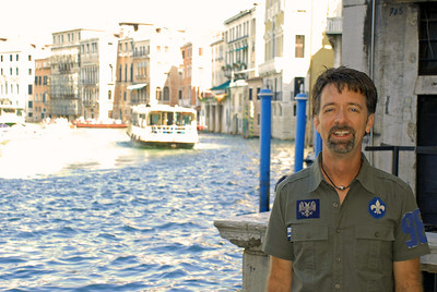 Jerry on the Grand Canal in Venice