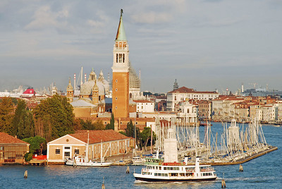 Sail boats along San Marco canal