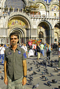 Jerry in St. Mark's Square in front of Basilica San Marco