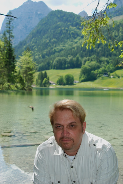 Wesley at Lake Hintersee in southeast Germany