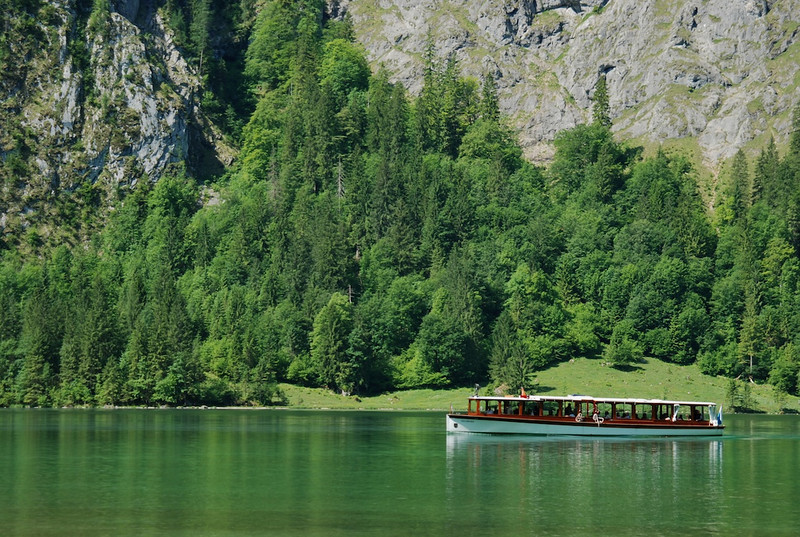 Konigssee located in extreme southeast Berchtesgaden Land distrinct