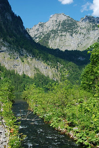 Mountain stream near south tip of Konigssee