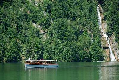 Passenger boats make regular runs across Koningssee