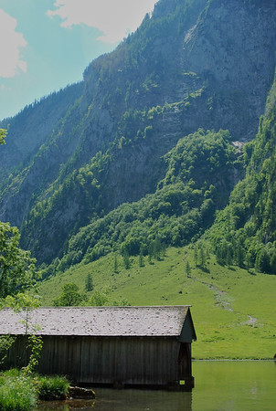 Old boat house at Obersee