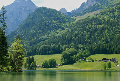 Lake Hintersee has emerald green water, mysterious woods, a disarray of moss-covered boulders that, ages ago, thundered down the steep mountains.