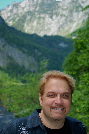 Wes hiking the German alps