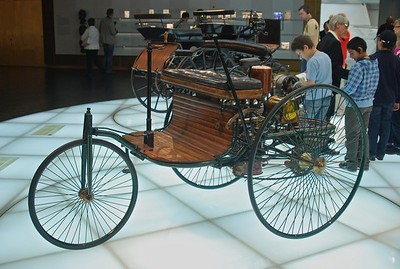 One of the first Mercedes, but three wheels and a chain drive?