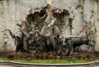 Neptune fountain in the northern gardens at Linderhof
