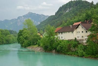The Lech River flowing through Fussen.