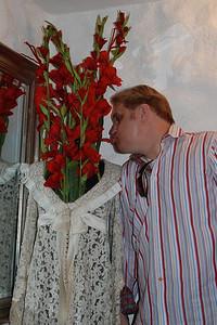 Hotel Sonne in Fussen; Wes admiring the unique decor