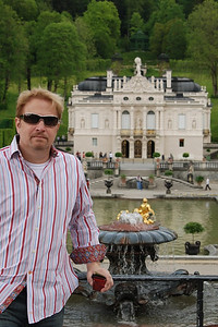 Wes admiring the fountains at Linderhof