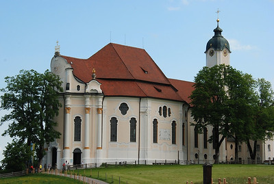 The Pilgrimage Church of Wies (German: Wieskirche) is an oval rococo church; built between 1745 and 1754