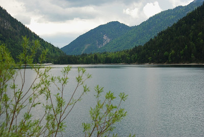 Plansee in Austrian Alps along highway L225