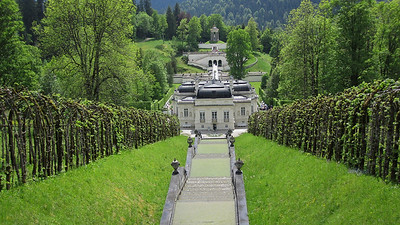 View of Schloss Linderhof from the Music Pavilion