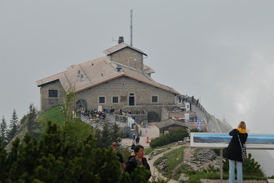 South view of Kehlsteinhaus - now a tourist destination, but once a private mountain house for Hitler