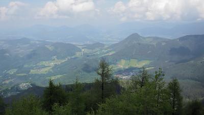 View from Kehlsteinhaus looking NE toward the German/Austrian border