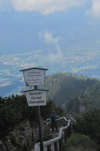 Walking path down the Kehlstein at Hitler's Eagle's Nest