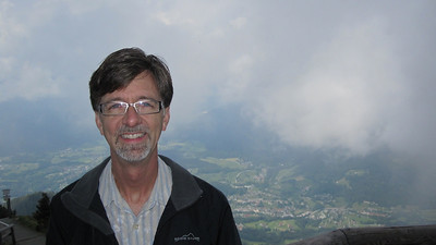Jerry at Kehlsteinhaus with Berchtesgaden valley below