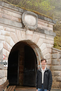 Jerry outside the entrance tunnel to Hilter's Eagle's Nest, tunnel is 128m long