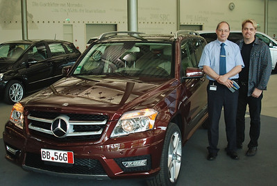 Ready to go but Wes and Mercedes rep want one last photo