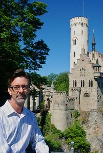 Jerry outside of Burg Lichtenstein.
