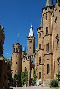 Central courtyard at Burg Hohenzollern