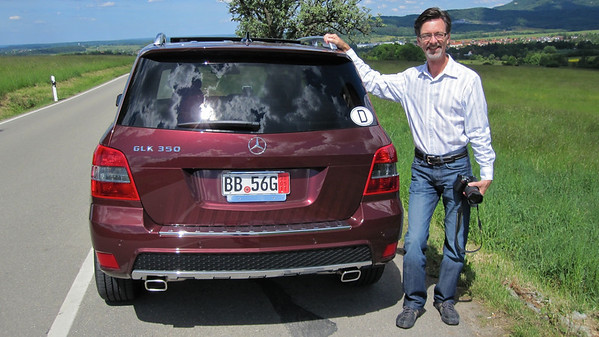 Jerry and the new GLK; on the road from Burg Hohenzollern