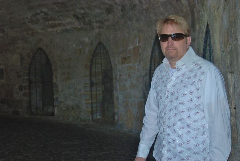 Wes inside the tunnel entrance to Burg Hohenzollern