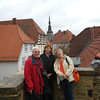 Onkel Gregor, Beate and Sabine on top of the old wall that surrounded Osnabruck.