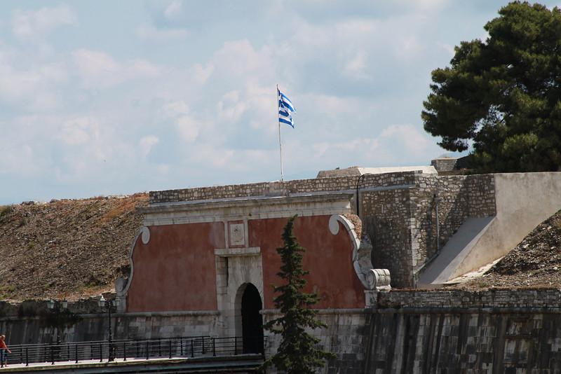 The Kerkyra fort in Corfu, Greece.