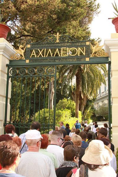 Touring the Achilleion Palace, built by the Empress Elizabeth of Austria in 1891.
