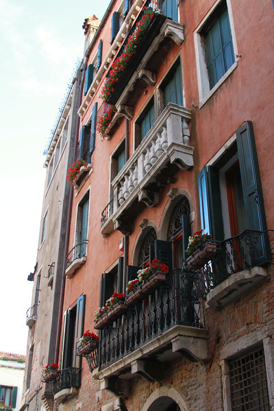 Beautiful balconies in Venice.