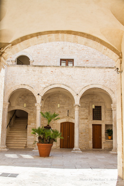 A courtyard to a home.