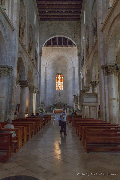 We then went into the church. They were getting ready for services so we had to hurry down below the church into the catacombs.