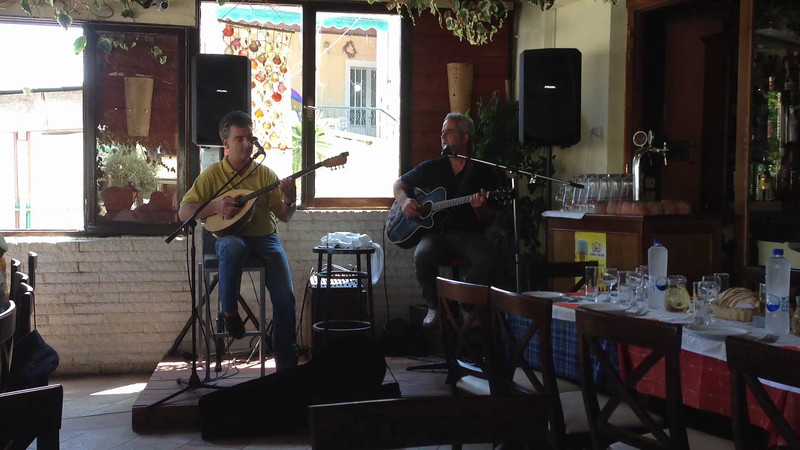 We had lunch at this little resturant and these guys were playing traditional greek music.