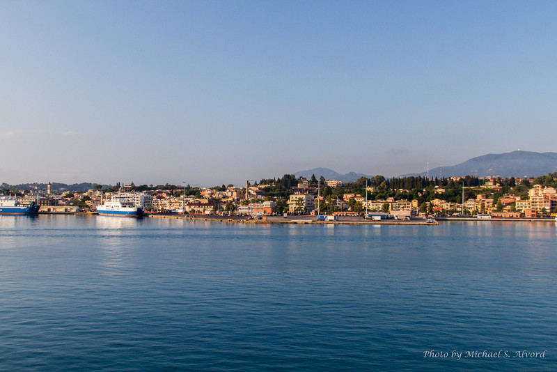 Entering the Port of Corfu Greece.
